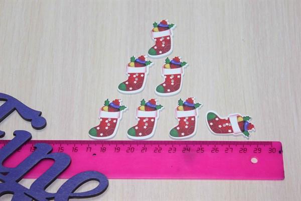 Пуговицы Рождественский носок - фото 25769