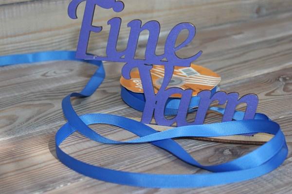 Лента Ideal репсовая 12 мм 366 яркий синий - фото 33150