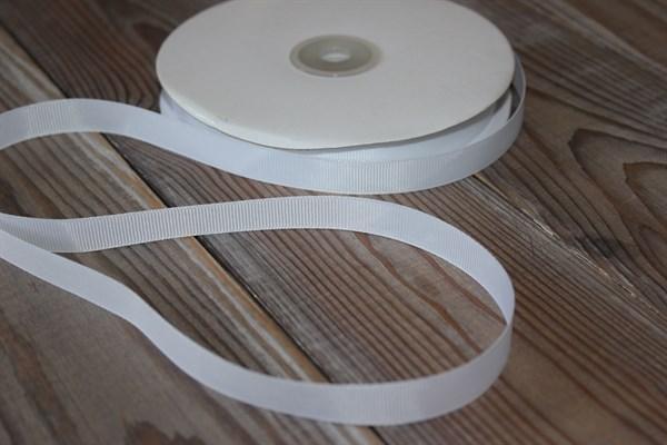 Лента Ideal репсовая 12 мм белый - фото 33166
