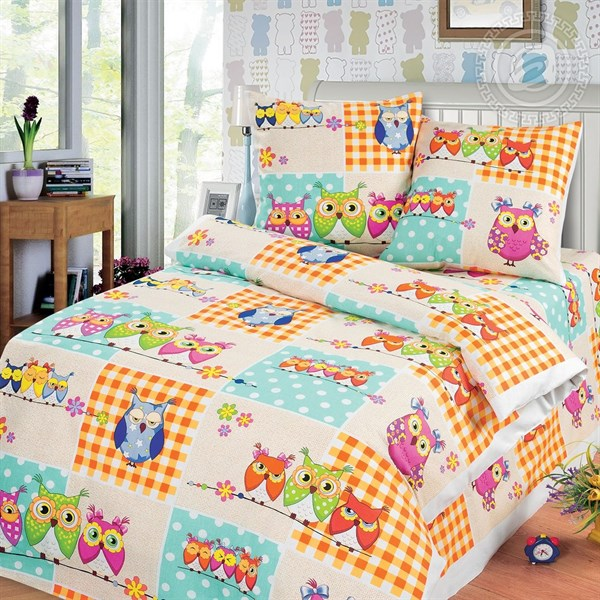 """Бязь для постельного белья 150 """"Соня"""" (совушки) - фото 33429"""