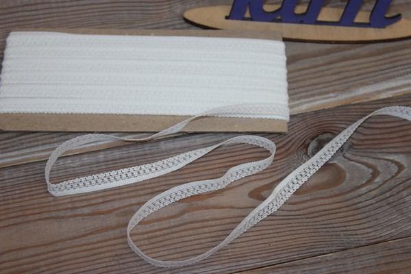 Тесьма вязанная 10 мм 5698/10Т цвет белый - фото 34098