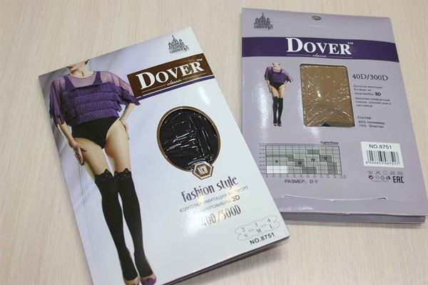 Колготки имитация ботфорт Dover кошечки - фото 34739