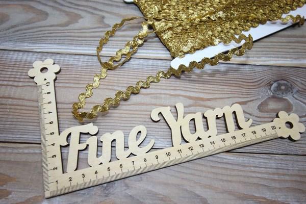 Тесьма декоративная Вьюнчик 5 мм золото - фото 37777
