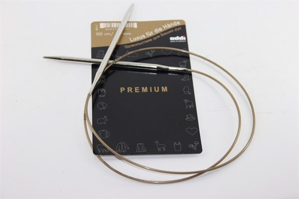 Addi Premium 100 см (Спицы адди премиум) супергладкие - фото 5480