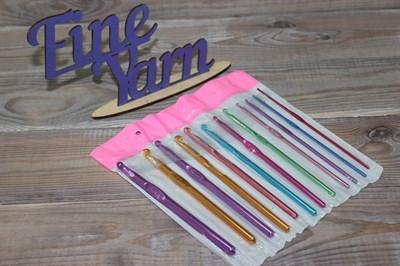 Крючки для вязания алюминиевые цветные