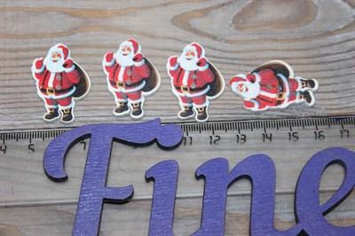 Пуговицы Дед мороз с мешком