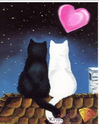 "Картина стразами (набор) ""Кошачья романтика"""