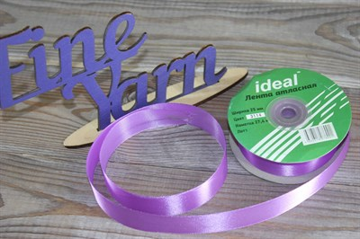Ленты атласные 25 мм. цвет 3114 фиолетовый IDEAL уп. 27,4 м