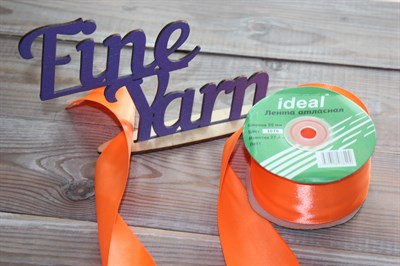 Ленты атласные 50 мм. цвет 3070 оранжевый IDEAL уп. 27,4 м