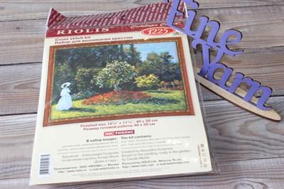 """Набор для вышивания Риолис 1225 """"Дама в саду"""" по мотивам картины К.Моне 40*30 см"""