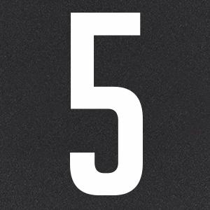 Термотрансфер Цифра 5