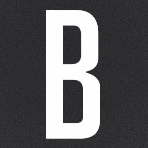 Термотрансфер Буква B