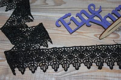 Кружево вязанное черное 6,3 см