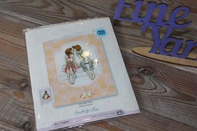 Набор для вышивания крестиком Первый поцелуй арт: СН805 10*13 см