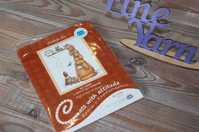 Набор для вышивания крестиком Коты с характером арт: С145 13*17 см