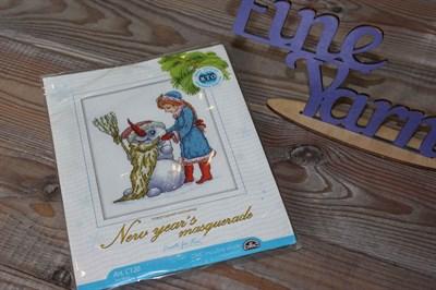 Набор для вышивания крестиком Новогодний маскарад арт: С120 14*18 см