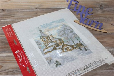 Канва с нанесенным рисунком Дорога к храму 1013