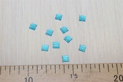 Стразы пришивные квадратные 8*8 голубой