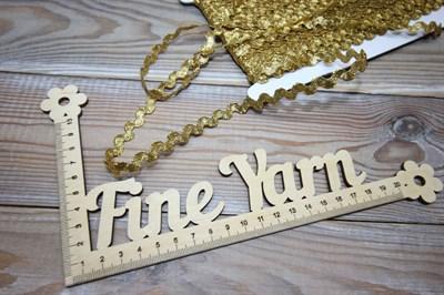 Тесьма декоративная Вьюнчик 5 мм золото
