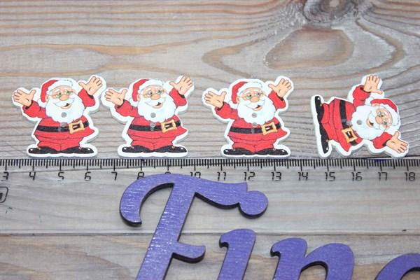 Пуговицы Дед мороз - фото 25454