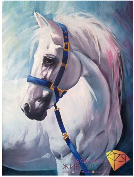 "Картина стразами (набор) ""Грезы белого коня"" - фото 26833"