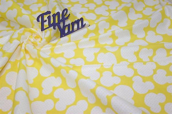 Бязь плательная Микки маус желтый - фото 27188