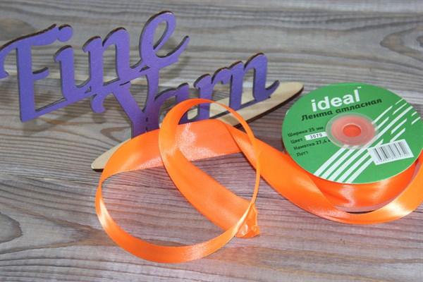 Ленты атласные 25 мм. цвет 3070 оранжевый IDEAL уп. 27,4 м - фото 29168