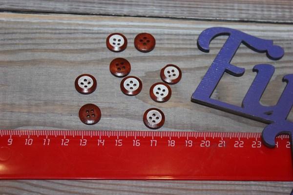 Пуговицы деревянные 4 отверстия - фото 30056