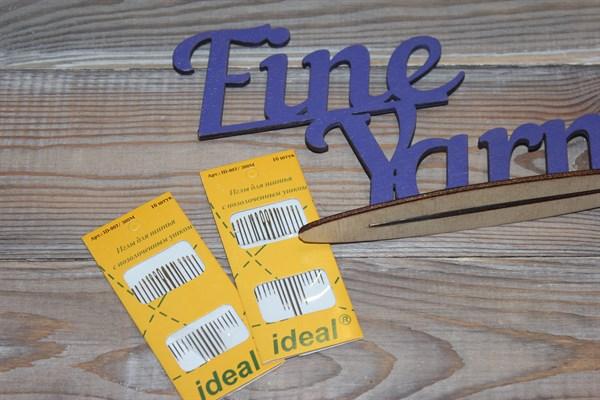 Иглы для шитья IDEAL с позолоченным ушком 16шт. уп. - фото 30150