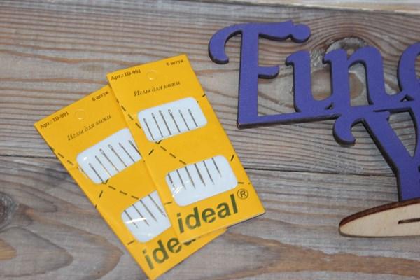 Иглы IDEAL для кожи 6 шт.уп. - фото 31265