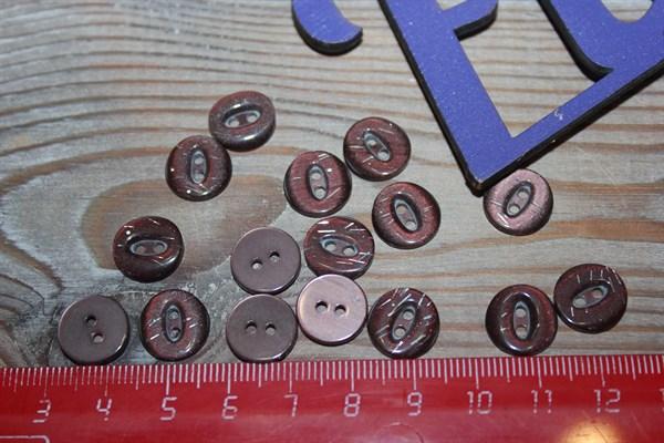 Пуговицы 12,5 мм 2 прокола - фото 33193