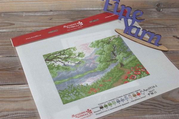 Канва с нанесенным рисунком Пейзаж в горах 0518 - фото 35187