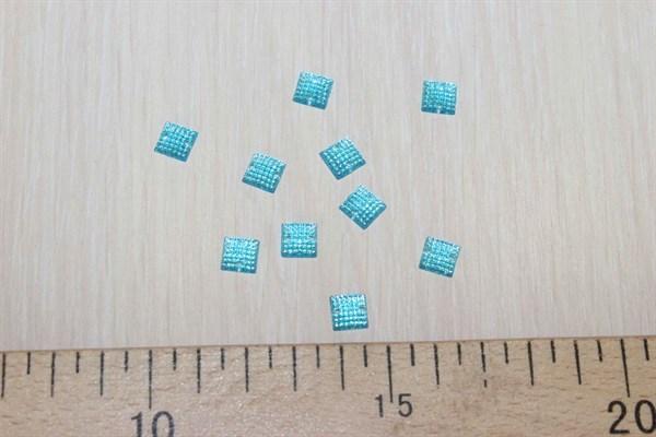 Стразы пришивные квадратные 8*8 голубой - фото 35805