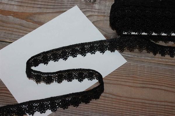 Кружево гипюр арт. KMC-1005 цвет черный - фото 36017