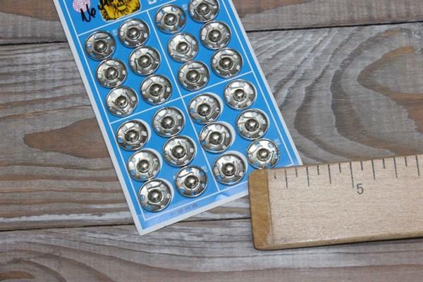 Кнопка пришивная 16 мм цвет никель - фото 36126