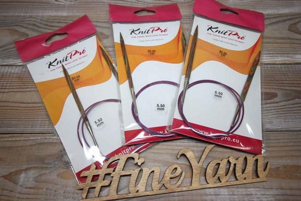 Спицы деревянные круговые KnitPro 80см Simfonie - фото 38056