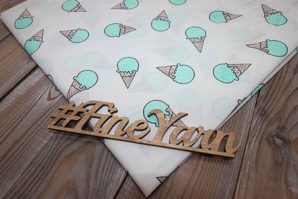 Бязь плательная мороженое мятный 150 см - фото 38287