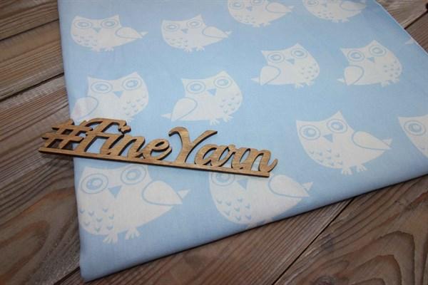 Бязь плательная Совушки на голубом 150 см - фото 38297