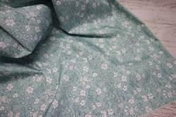 Плащевка Дюспо Цветочки голубые - фото 41593
