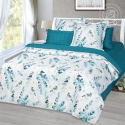 Сатин для постельного белья 120 гр 220 см Камертон (цветы на белом) - фото 41867