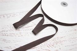 Тесьма киперная хлопок 15 мм коричневый - фото 42361