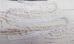 Кружево гипюр TR.8G8008 шир.10мм белый - фото 43762