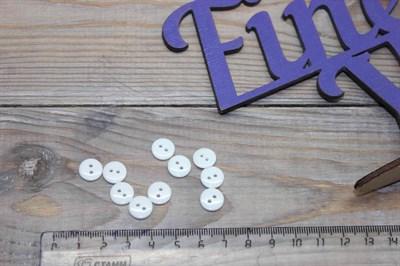 Пуговицы круглые пластик 10 мм