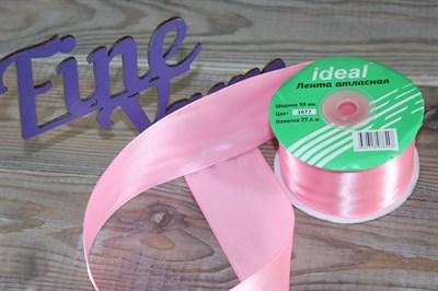 Ленты атласные 50 мм. цвет 3077 св. розовый IDEAL уп. 27,4 м