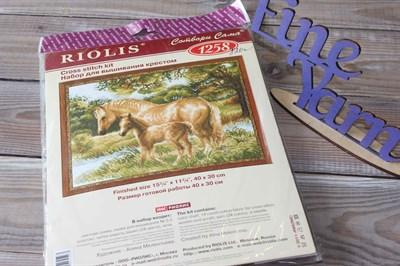 """Набор для вышивания Риолис 1258 """"Лошадь с жеребенком"""" 40*30 см"""