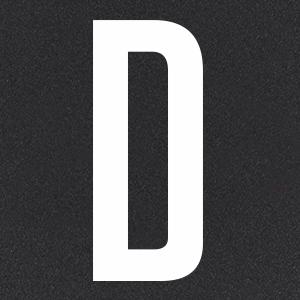 Термотрансфер Буква D