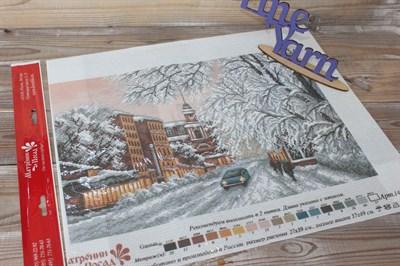 Канва с нанесенным рисунком Зимний город 1488