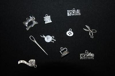 Подвески серебро Вязание + Шитье