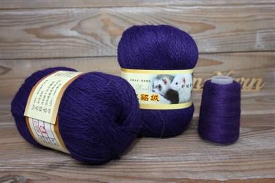Пряжа Пух норки цвет 012 (василек) Китай