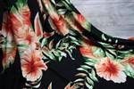 Штапель Экзотические цветы на черном